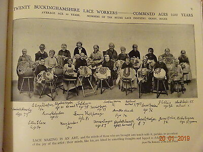 VINTAGE c1930s BUCKINGHAMSHIRE LACE : A 16th CENTURY INDUSTRY - Many PHOTOS