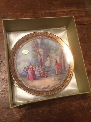 Small Limoges Decorative Plate Hallmarked L'etoile France Limoges