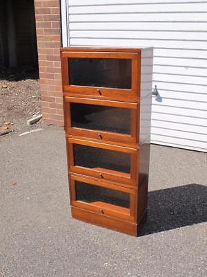 Fabulous Antique Small Wernicke Style Sectional Bookcase / Shelves Shop Cabinet