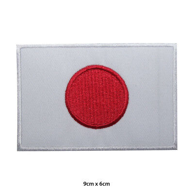 Japan National Flag Embroidered Patch Iron on Sew On Badge For Clothes etc