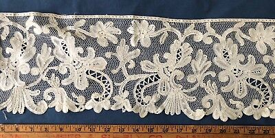 19th century deep handmade bobbin lace flounce, maybe English COLLECTOR