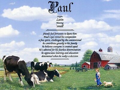 """""""Cows"""" Name Meaning Print Personalized (Animals Farm)"""