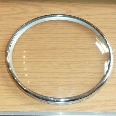 "Pin on hinged glazed bezel for mantel clock 6"" across"