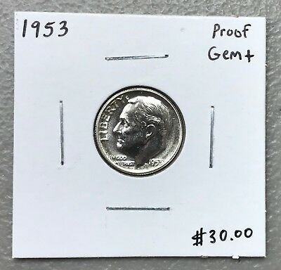 1953 U.s. Roosevelt Dime ~ Proof Gem+ Condition! C1205