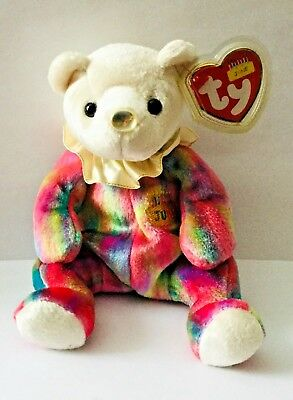 Ty Beanie Baby  * June The Birthday Teddy  Bear * Comes With Tags