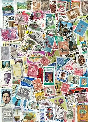 Worldwide 100 Different Stamps - many Countries, Many MNH - A.............D-9121