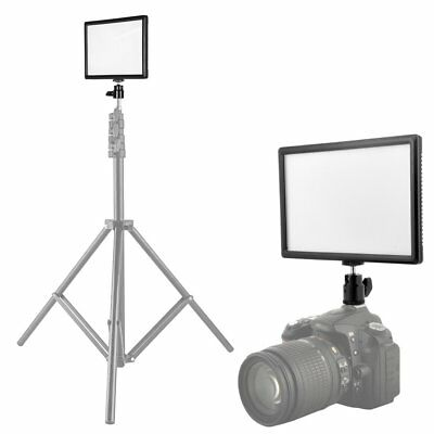 Ultra-Thin LED Video Light Panel w/ Hot Shoe Mount for DSLR Camera Camcorder AA
