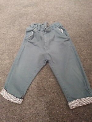 Blue boys M&S Autograph trousers 9-12 months. Great condition! Christmas outfit.