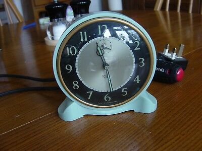 Vintage Smiths Sectric Electric Clock in Blue Bakelite Very good condition 1950s