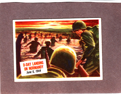 Vintage- 1954 Scoop #16 D-Day Landing