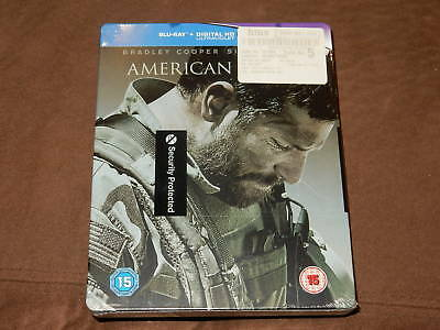 Brand New/sealed American Sniper Blu-Ray Limited Hmv Steelbook Rare Uk Import