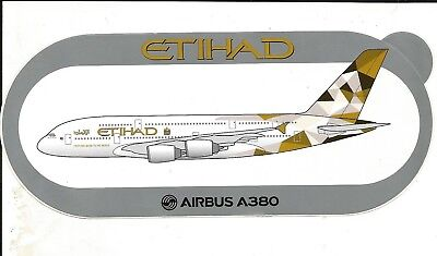 EXCLU !!! A380 Etihad Airways STICKER AUTOCOLLANT AIRBUS