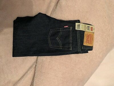 Levi 511 Jeans, Slim Fit, Dark Blue, Boys, Age 6 Yrs