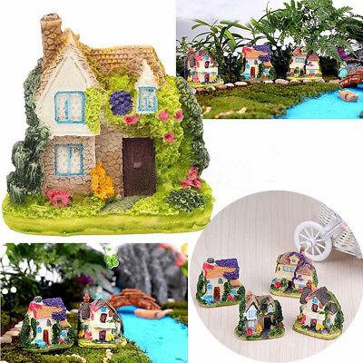 Miniature Resin Villa House Fairy Garden Kit Figurine Accessories Ornament Decor