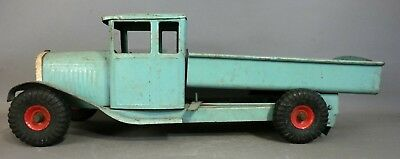 1930's Antique TRI ANG Pressed Steel DUMP TRUCK Old ENGLISH L Bros TOY TRUCK