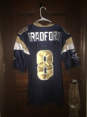 f03ea572 Mens Reebok Size 50 SAM BRADFORD Los Angeles Rams NFL Football Jersey ~ Sewn