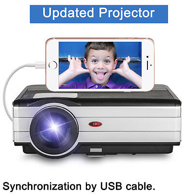 Multimedia LED Projector Home Theater Mirror Screen for SamrtPhone By USB Cable