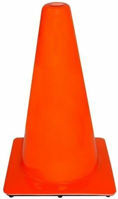 Cone Case of 10 18 in. Orange PVC Non Reflective Heavy Solid Traffic Safety