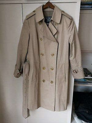VINTAGE ENGLAND Womens BURBERRY Trench Coat size 12L