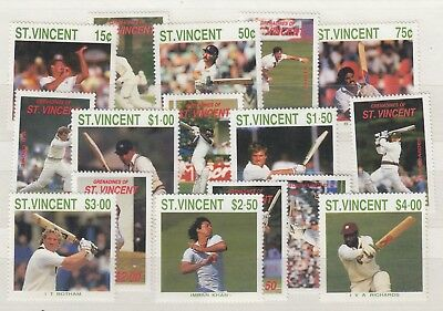 St Vincent 1988 Cricketers Mint MNH Set x 2 SG1144/1151 J3814