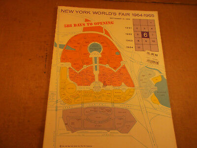New York Worlds Fair 1964, Preview Book, 588 Days to Opening, 82 pages Softbound