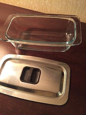 Hostess Trolley Glass Dish With Lid
