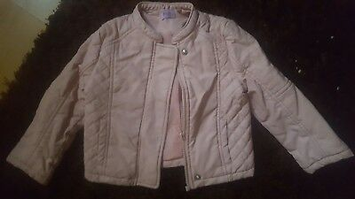 Little Girls Pink Leather Look Jacket Age 18/24 Months