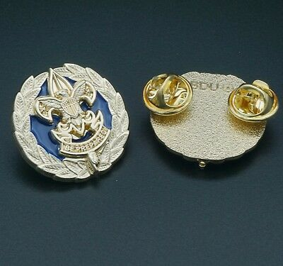 Scout Council PAST President Collar Badge, One Pair (2) Replica-Scouts Boy Pin