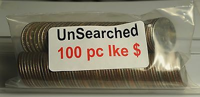 100 Piece, Circulated, Unsearched Eisenhower Dollars