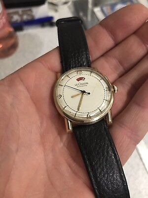 Gents Vintage 1950s Jaeger Le Coultre Power Reserve Indicator Auto Wrist Watch