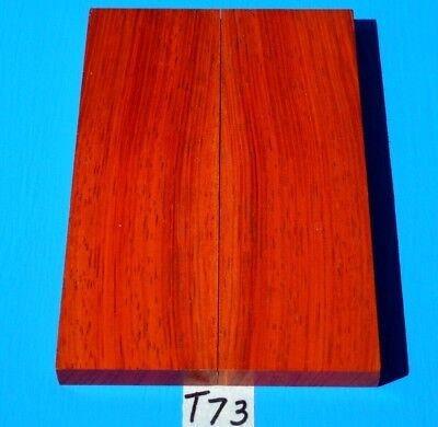 1 Pair Knife Scales Colorful Red & Orange Borneo Rosewood~Exotic Wood Lumber