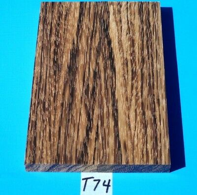 1 Pair Knife Blank Scales Figured Zebrawood~Exotic Wood Lumber