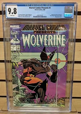 MARVEL COMICS PRESENTS #1 CGC 9.8 NM/M White Pages 1988 Claremont Wolverine