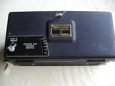 A old vintage Military magnetic wire sound recorder type 418s reel to reel boxed