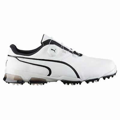 Puma TitanTour Ignite Disc Golf Shoes 189427-01 White/Black Men's - 11.5 MEDIUM