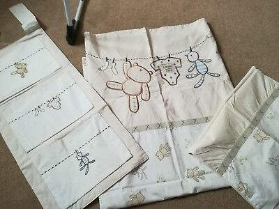 mothercare cot bedding set and nappy pocket unisex