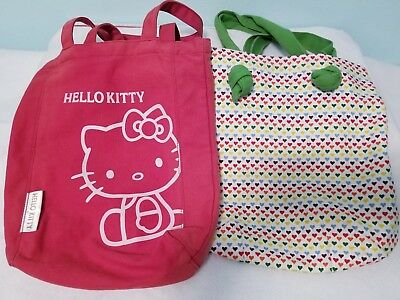 efd68a34022a Vintage 1976 Sanrio Hello Kitty Cloth Tote Bag Purse Plastic Lining Red Blue.   35.00 Buy It Now or Best Offer 10d 23h. See Details. Tote Bag - Hello Kitty  ...