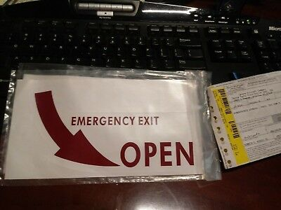 Emergency Exit Placard 5501001-76 (Alt 5501001-18) New