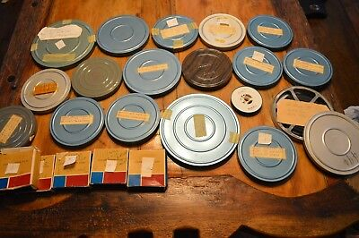 Huge Lot Vintage 8 Mm Film Reels,home Movies,1950S,1960S,grand Canyon,metal Case