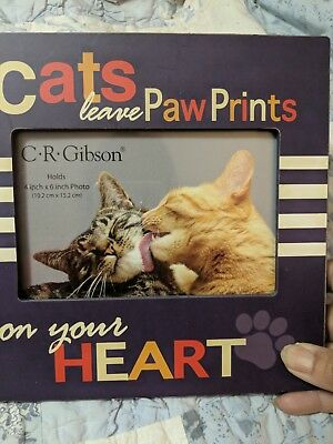 Kitty cat picture frame 4x6 photos