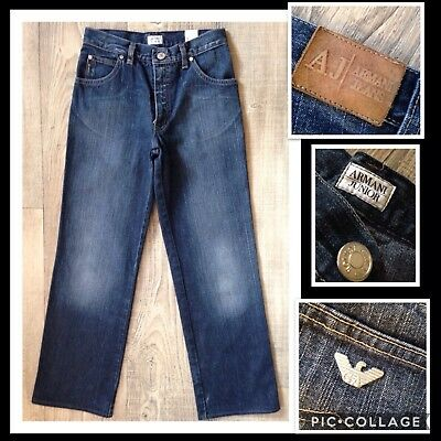 """💥boys Armani Junior Jeans 10 Years W25"""" L26.5"""" *great Cond* Blue"""