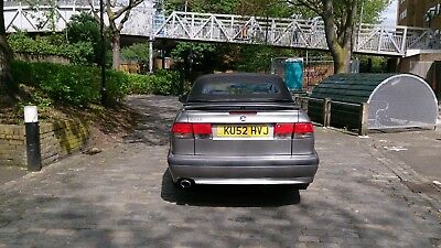 Very Fast Saab 9-3 Se 2.0 Turbo Convertible Petrol 52.reg Manual Grey 91K Miles.