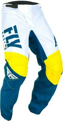 Fly Racing F-16 Mens MX Offroad Pants Yellow/White/Navy
