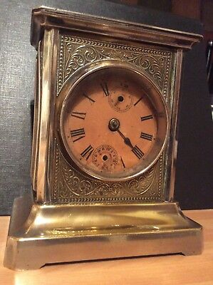 Antique (French?) Silver Plated Chiming Mantle Clock