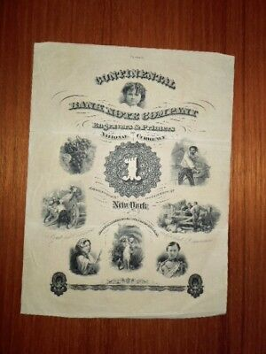Antique Commercial Paper Advertisement, Continental Bank Note Company, N.y.
