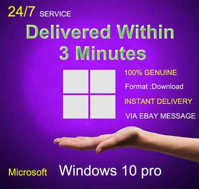 Microsoft Windows 10 Pro Professional 32/64 bit Genuine License Key Product Code