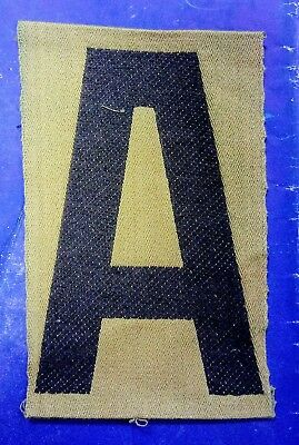 """WWI US 1st ARMY (Original Liberty loan patch) varrent tapered """"A"""" Headquarters"""