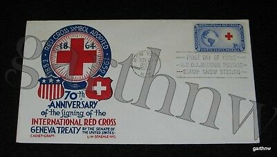 INTERNATIONAL RED CROSS 1952 FIRST DAY COVER 70th ANNIVERSARY SYMBOL ADOPTION