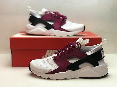 5d3d88327081 847568-101 Nike Air Huarache Run Ultra White Black Pink Girls Youth Size 5Y