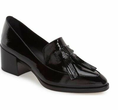 013000355e7 Rebecca Minkoff Size 8 Edie Black Patent Tassel Loafers Pumps Heels Shoes.  New